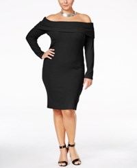Ing Trendy Plus Size Off The Shoulder Sweater Dress Only At Macy's Black