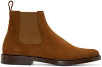 Caramel Suede Chelsea Boots