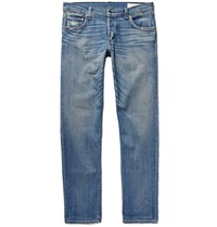 Rag And Bone Slim Fit 2 Distressed Stretch Denim Jeans Blue