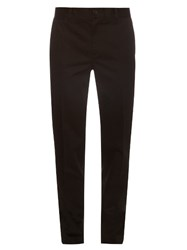Givenchy Cotton Twill Chino Trousers Black