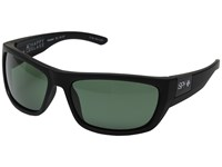 Spy Optic Dega Soft Matte Black Happy Glass Gray Green Polar Athletic Performance Sport Sunglasses Blue
