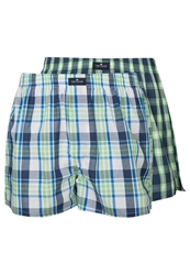 Tom Tailor 2 Pack Boxer Shorts Insignia Blue Green