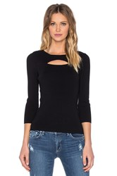 525 America Cut Out Rib Top Black