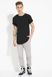 Forever 21 Dickies Dropped Taper Fit Joggers Light Grey