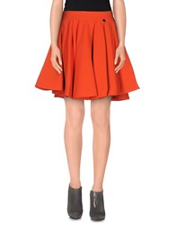 Mangano Skirts Mini Skirts Women Red