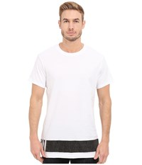 G Star Stonum Short Sleeve Crew Neck Long Tee In Compact Jersey White Men's T Shirt