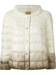 Fay Ombre Padded Jacket White