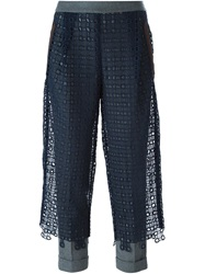Kolor Lace Overlay Trousers Blue