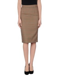 Beayukmui Knee Length Skirts Sand