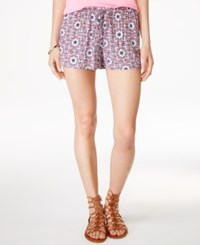 Stoosh Juniors' Printed Soft Shorts Coral Perricoat