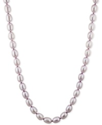 Honora Style Lilac Cultured Freshwater Pearl Strand In Sterling Silver 7 8Mm