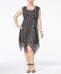 American Rag Trendy Plus Size Geo Print Handkerchief Hem Dress Only At Macy's Classic Black Combo