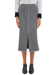 Hockin White Noise Overlocked Seam Skirt Grey