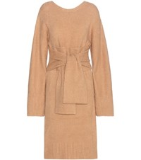 3.1 Phillip Lim Cotton Blend Sweater Dress Brown
