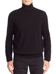 Vince Featherweight Cashmere And Wool Turtleneck Sweater Black