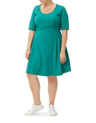 Junarose Jrpasleka Short Sleeves Swing Dress Turquoise