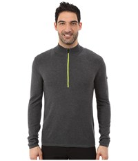 Spyder Drayke Half Zip Sweater Polar Theory Green Men's Sweater Gray