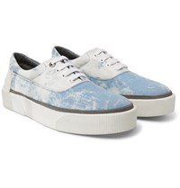Lanvin Tie Dyed Canvas Sneakers Blue