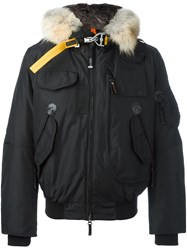 Parajumpers Faux Fur Trim Padded Jacket Black