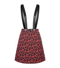Claudie Pierlot School Jacquard Skirt Female Red