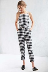 Native Youth Gingham Trouser Black And White