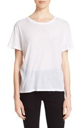 Enza Costa Women's Oversize Pima Cotton Tee White