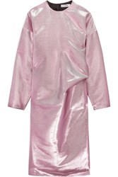 Jil Sander Metallic Cotton Blend Dress Pink