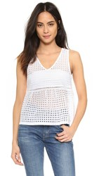 Jack By Bb Dakota Tiffani Peplum Tank White