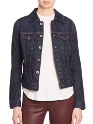 Ag Jeans Robyn Contrast Stitched Denim Jacket Free