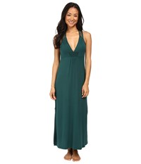 Midnight By Carole Hochman Long Gown Green Women's Pajama