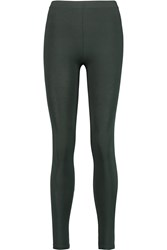 American Vintage Copperas Stretch Modal Jersey Leggings Green