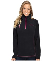 Columbia Tested Tough In Pink Fleece Half Zip Black Pink Ice Women's Long Sleeve Pullover