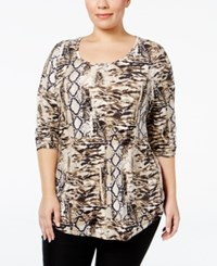 Jm Collection Plus Size Printed Top Only At Macy's Making Waves