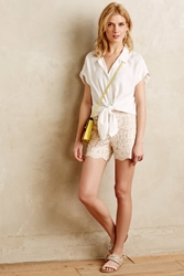 Cartonnier Scalloped Lacework Shorts Ivory