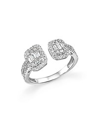Bloomingdale's Diamond Baguette And Round Ring In 14K White Gold .75 Ct. T.W.
