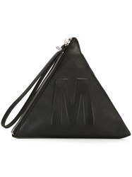 Mcq By Alexander Mcqueen Embossed Logo Pyramid Clutch Black