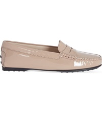 Tod's Gomma Lu Patent Moccasins Nude