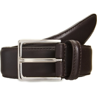 Barneys New York Stitched Edge Belt Dark Brown