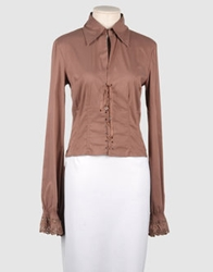 Scrupoli Long Sleeve Shirts Cocoa