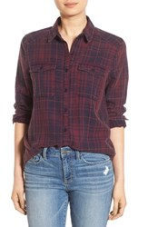 Women's Bp. Plaid Shirt Burgundy Jenn Plaid