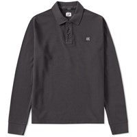 C.P. Company Long Sleeve Pique Polo Grey