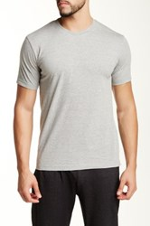 Bottoms Out Knit Jersey Crew Tee Gray