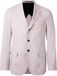 Mp Massimo Piombo Three Button Blazer Pink And Purple
