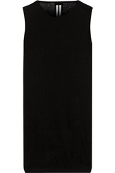 Rick Owens Cotton Boucle Tunic Black