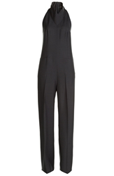 Agnona High Neck Silk Jumpsuit