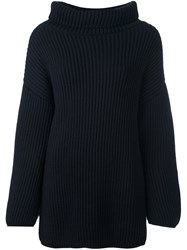 Stefano Mortari Oversized Jumper Blue