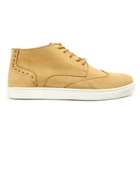 Menlook Label Beige Nubuck Sneakers