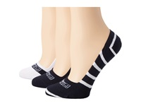Sperry Signature Stripes 3 Pack Navy White Women's Crew Cut Socks Shoes Blue