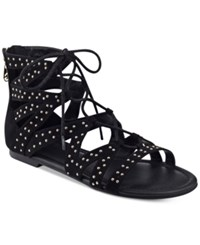 G By Guess Leidah Lace Up Gladiator Sandals Women's Shoes Black