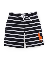 Ralph Lauren Sanibel Striped Tie Front Swim Trunks
